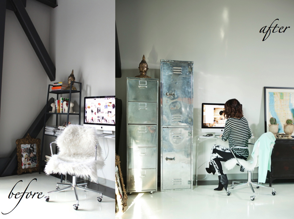 cheetah-is-the-new-black-before-after-desk-area