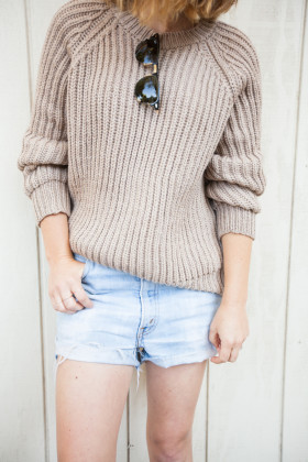 objects-without-meaning-camel-knit-sweater