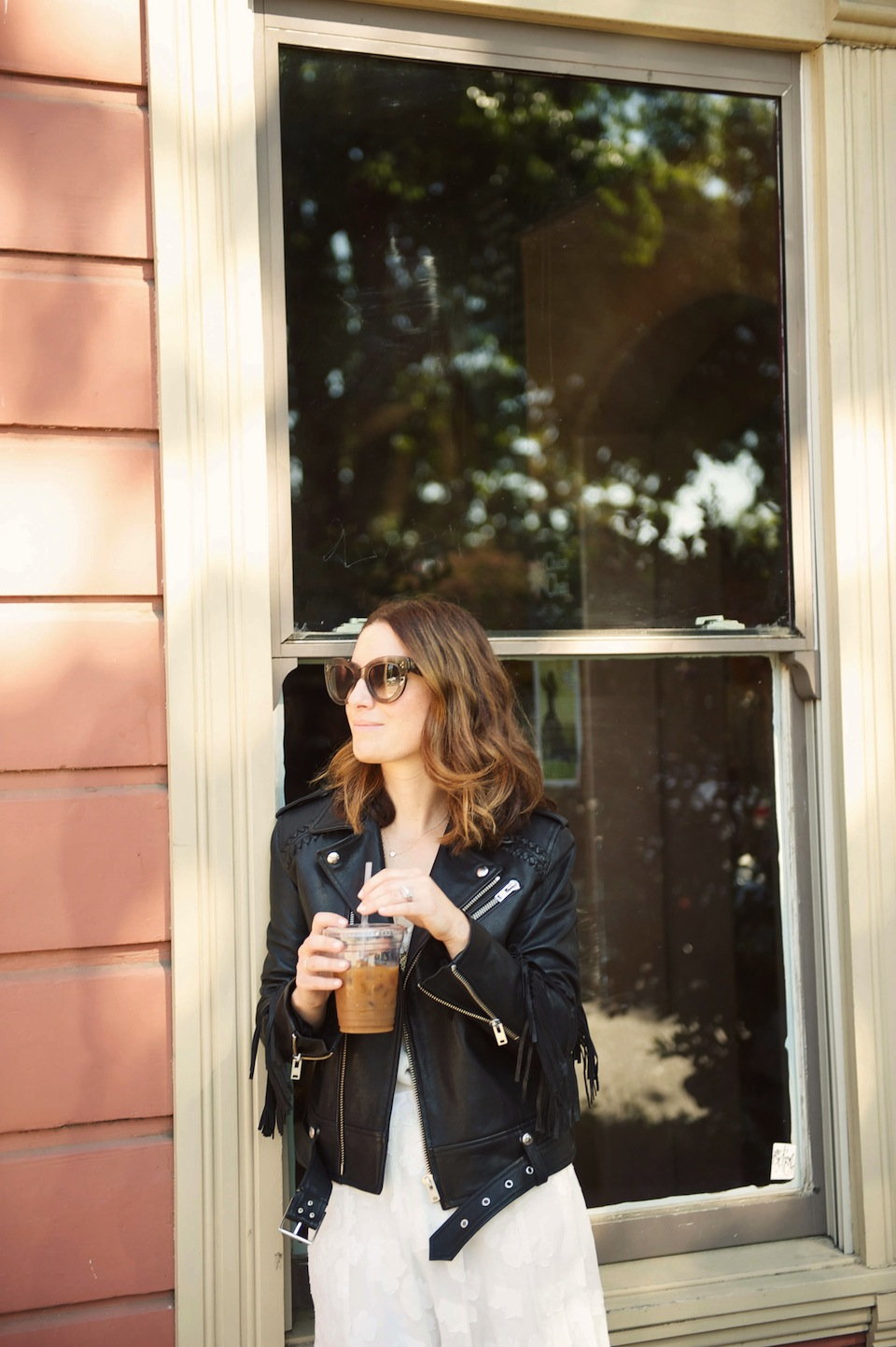 iro leather jacket with fringes