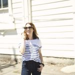 madewell sezane new york striped tee