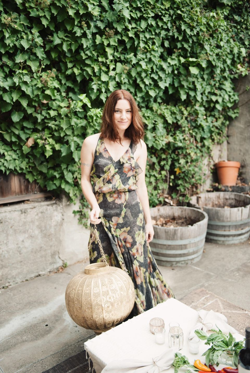 alicia lund isabel marant maxi floral dress