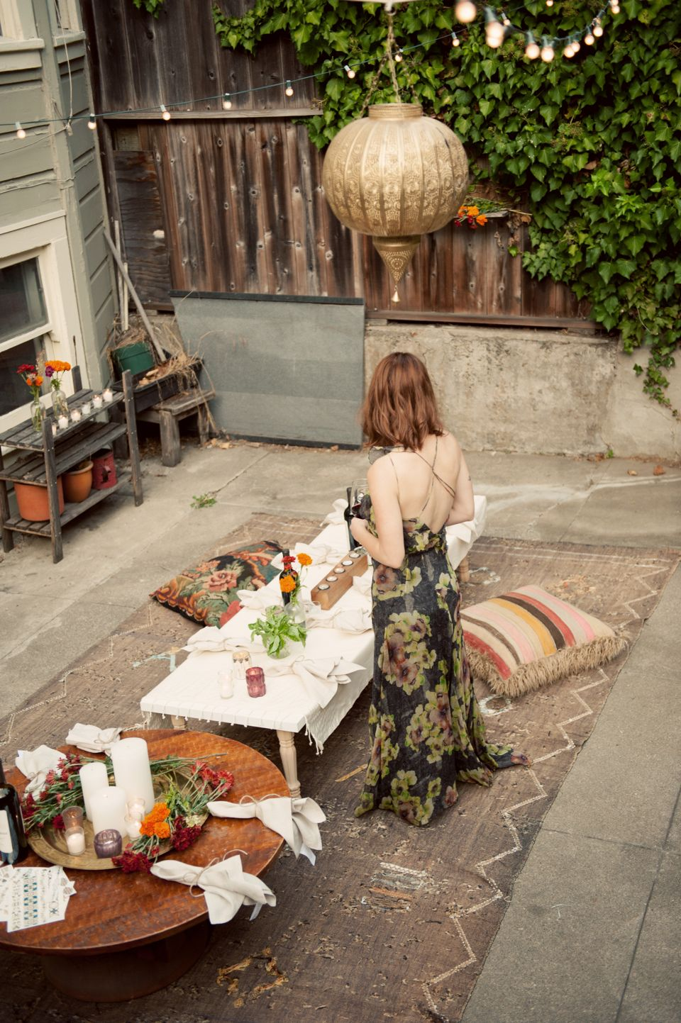 Bohemian Backyard Party : bohemian backyard fall dinner party