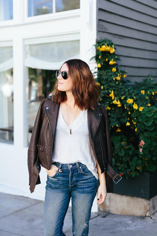muubaa brown leather jacket