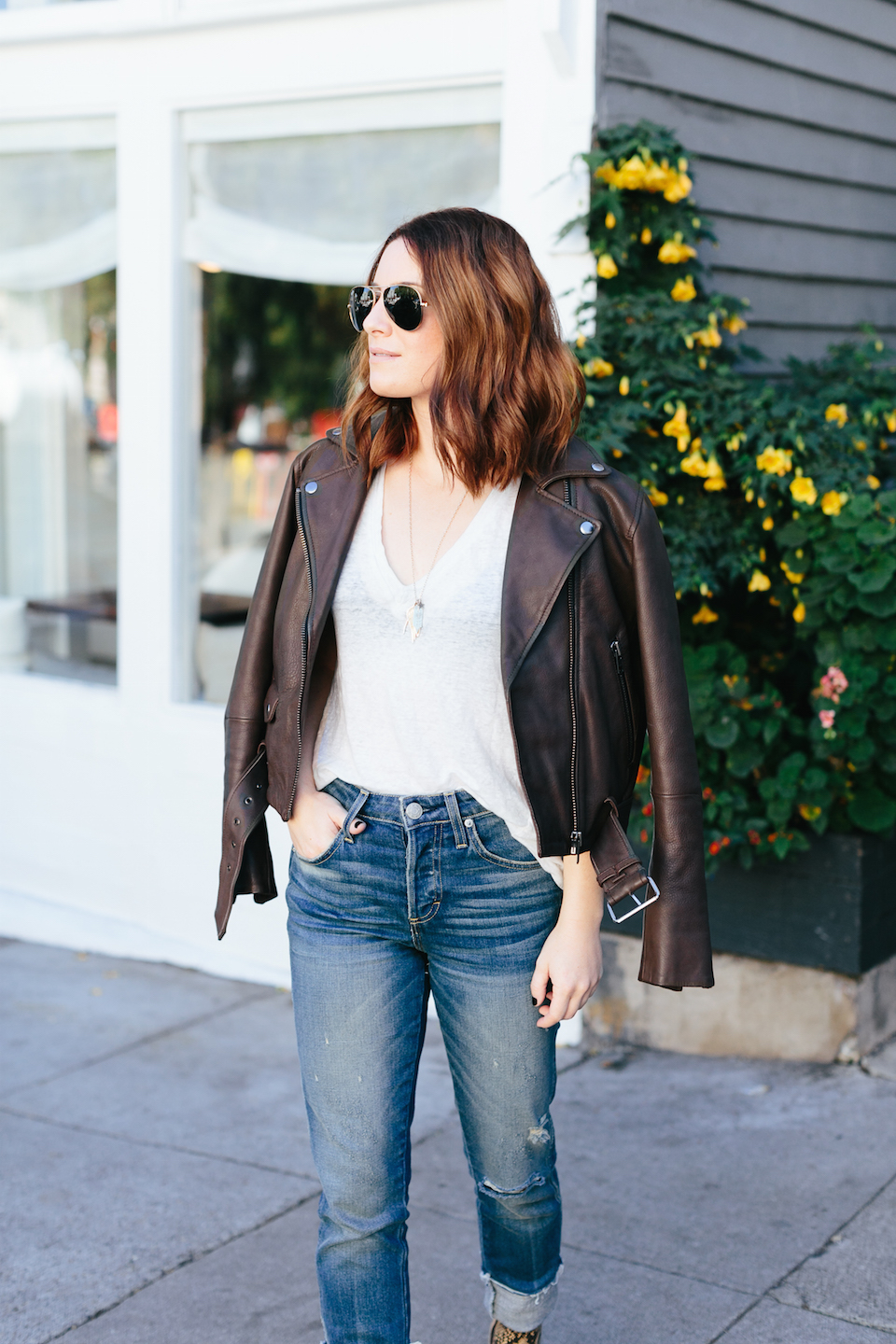 muubaa brown leather jacket