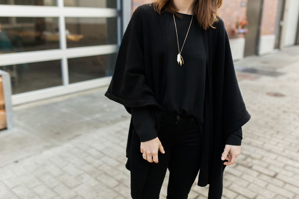 vince camuto poncho sweater