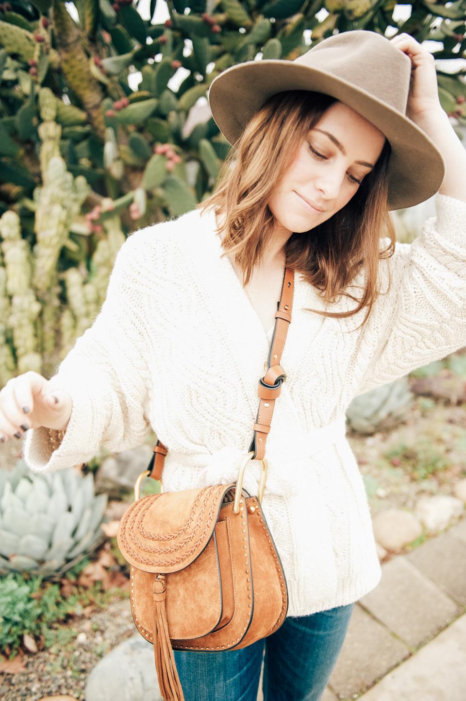 etoile isabel marant cable knit wrap sweater