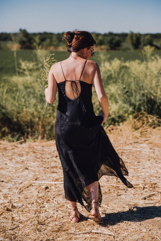 doen handkerchief maxi dress