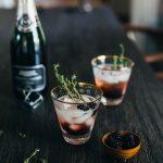 blackberry champagne summer cocktail