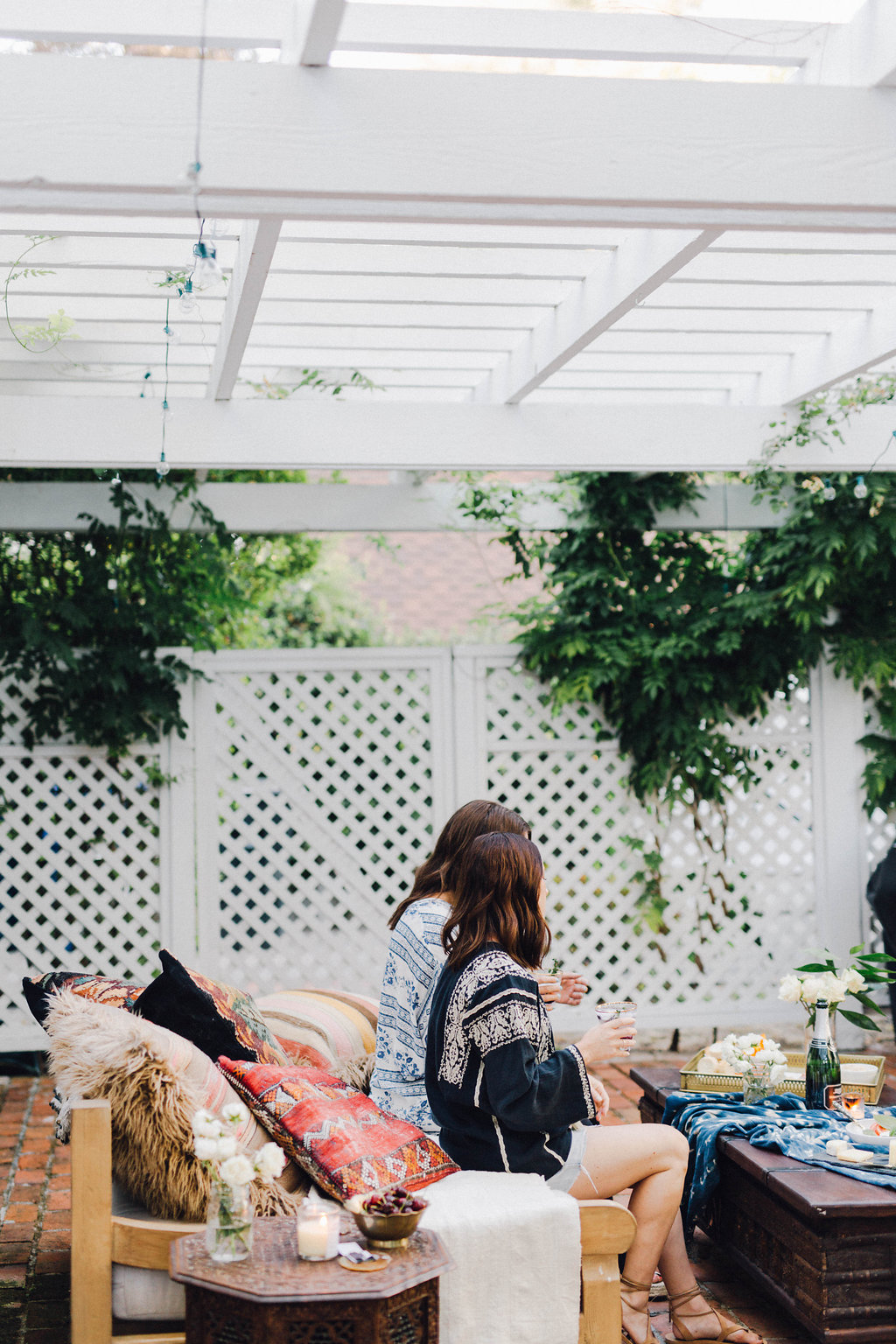 backyard summer happy hour