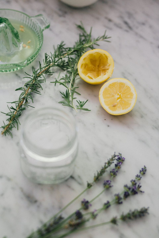 rosemary and lavender infused lemonade