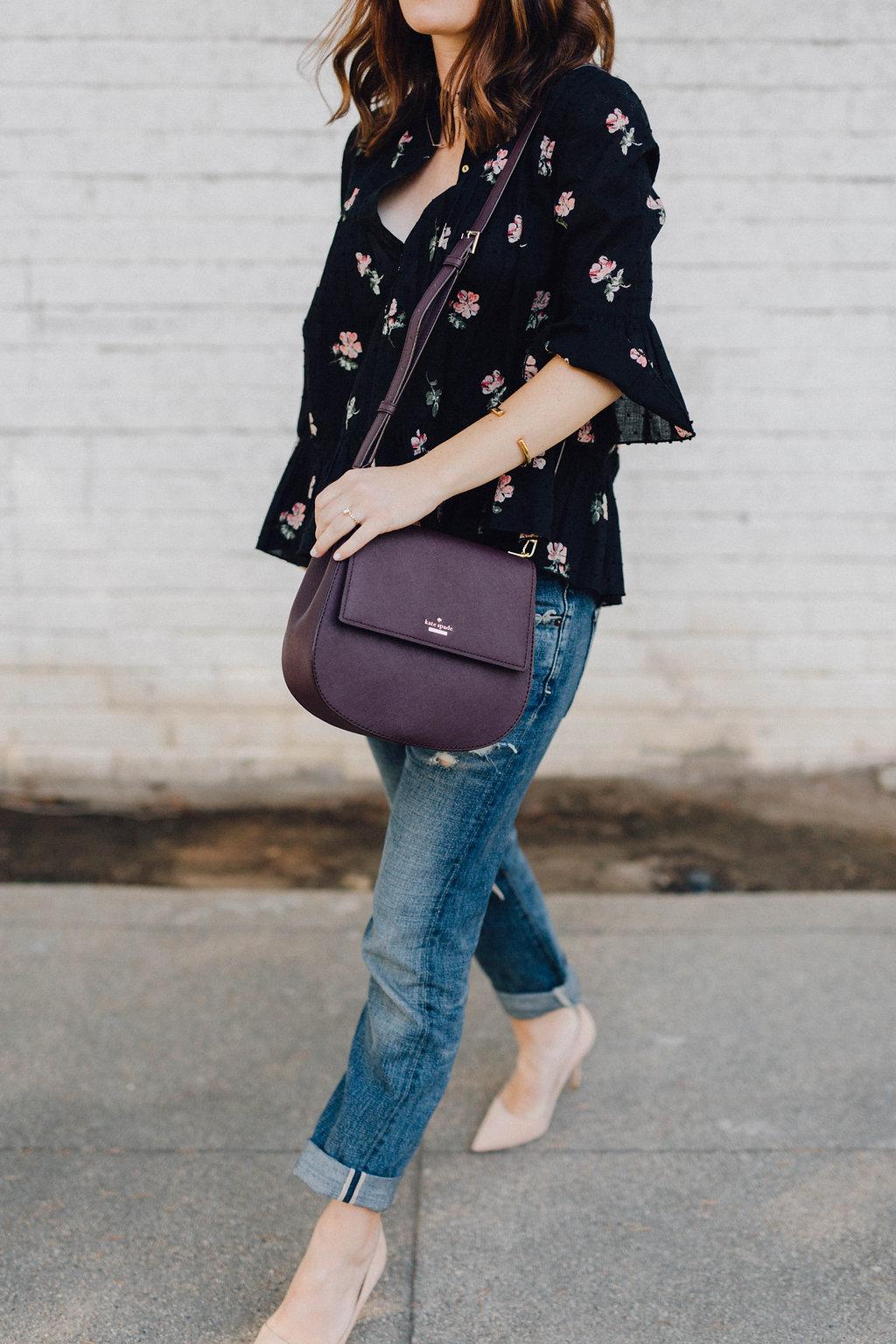 accessory update: burgundy bag