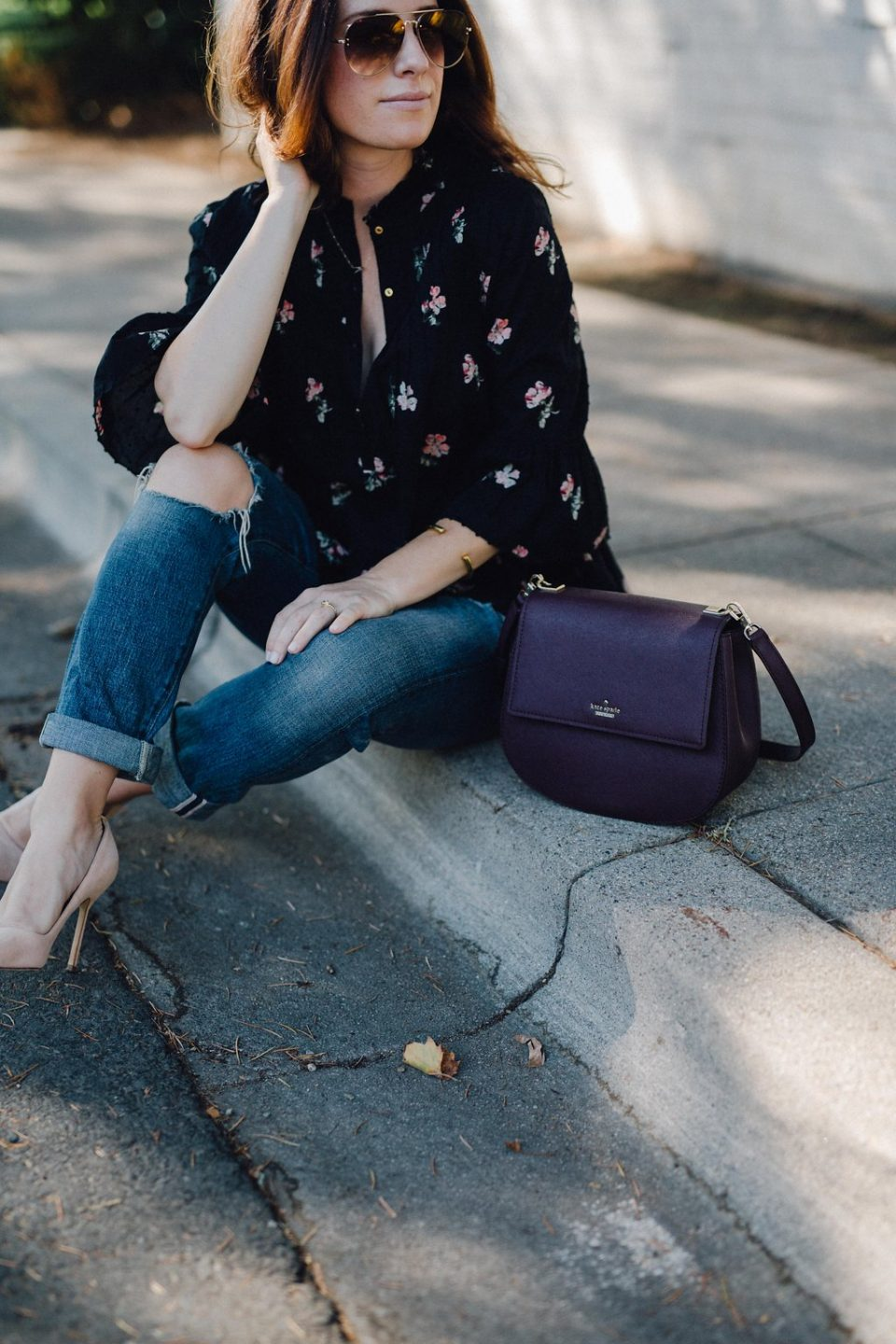 accessory update: burgundy bag