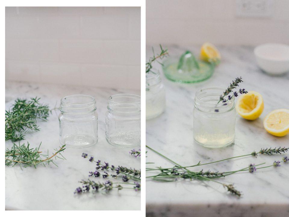 lavender infused lemonades