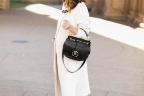 white fall coat