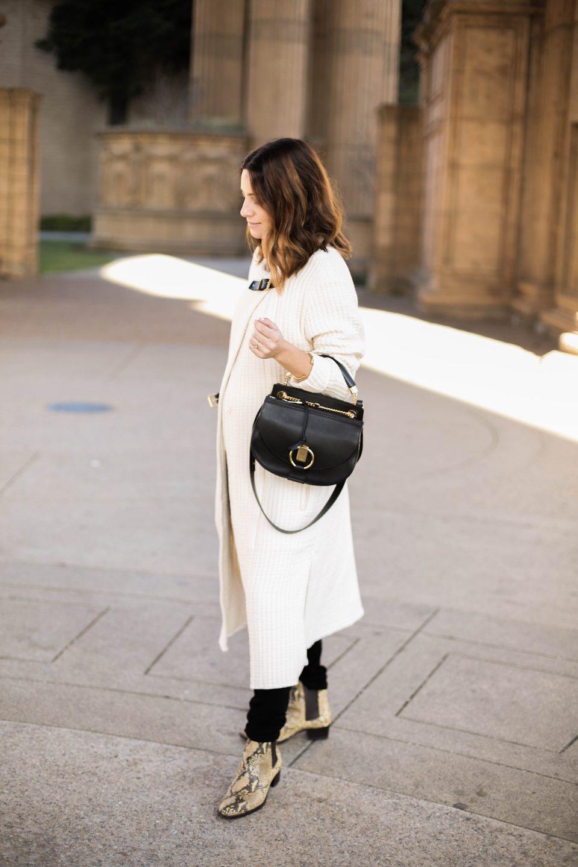 white fall coat