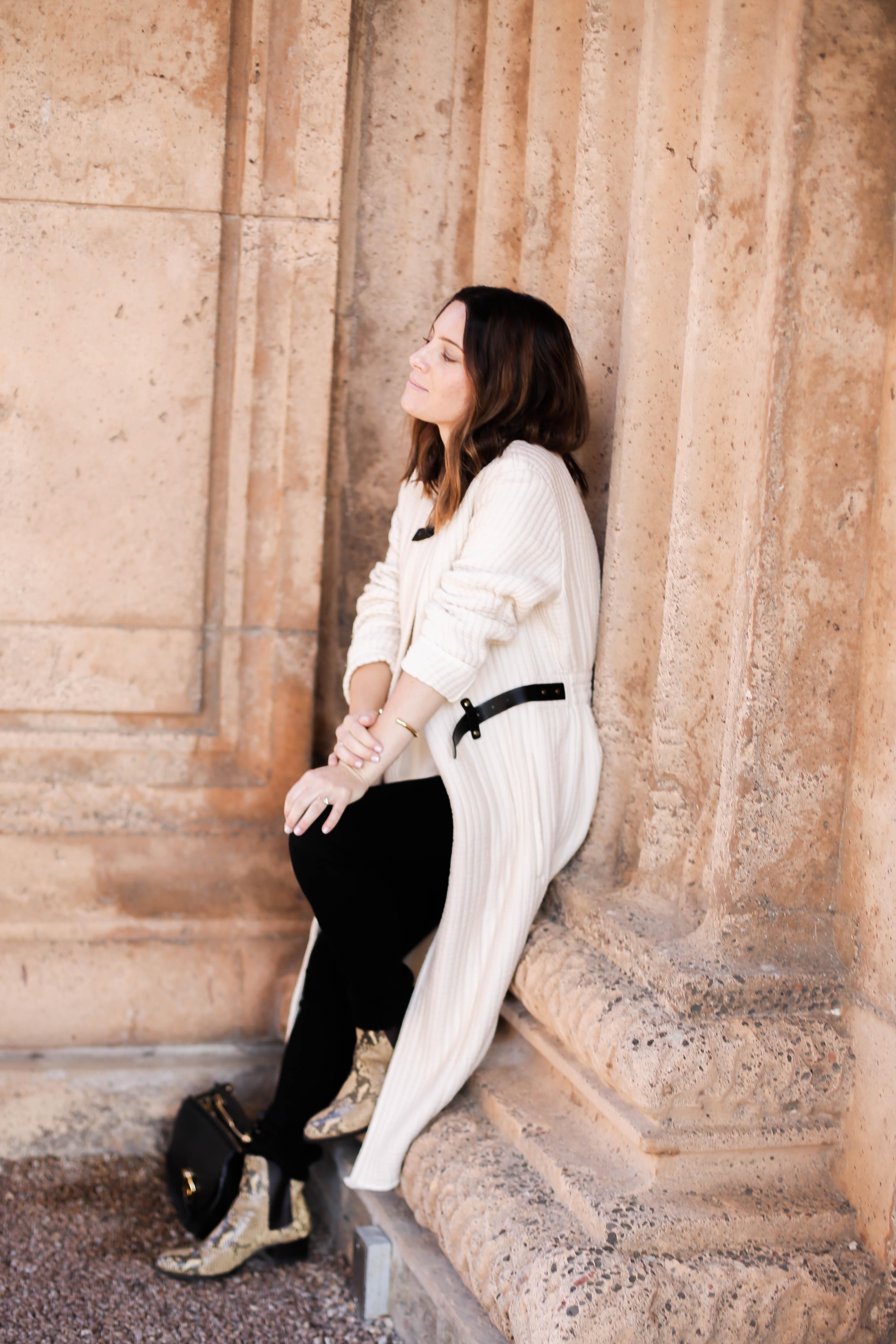 white coat for fall