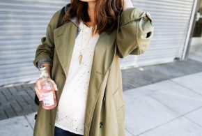 best sage green trench coat for fall
