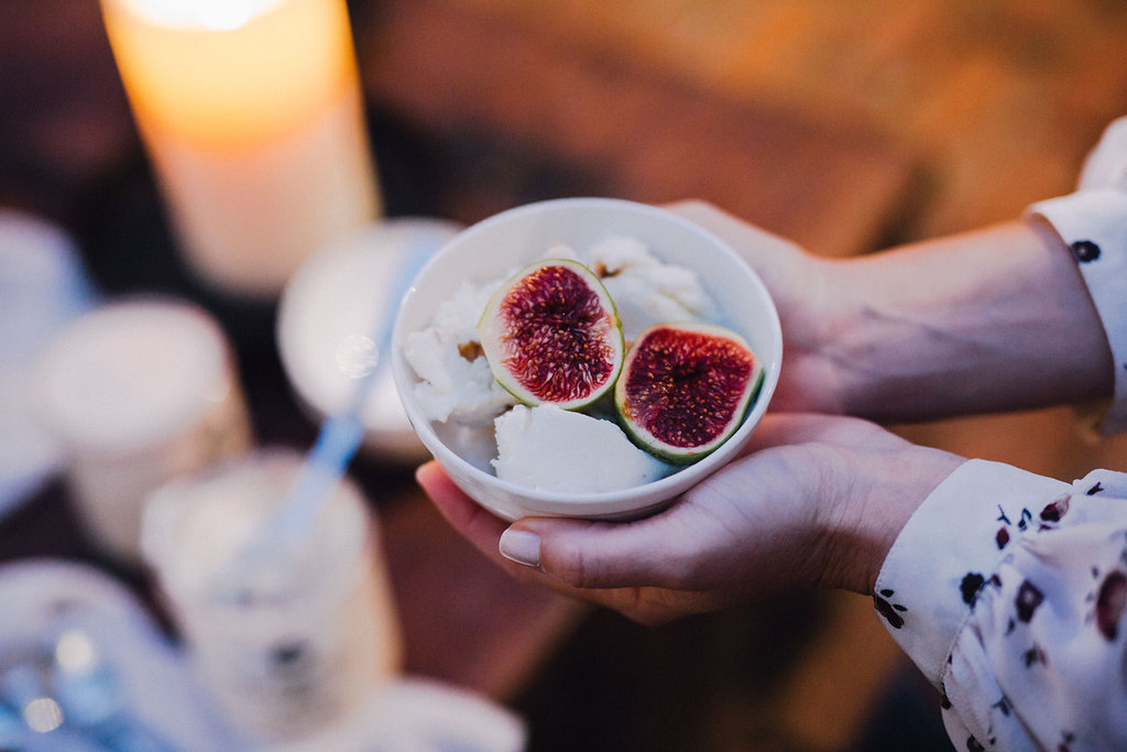 toasted almond gelato and fresh figs