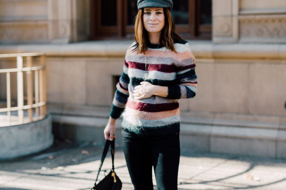 isabel marant multi-striped fall sweater