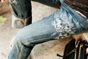 fall trend crush: embroidered denim