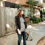 pregnancy style: 1 striped shirt, 2 ways