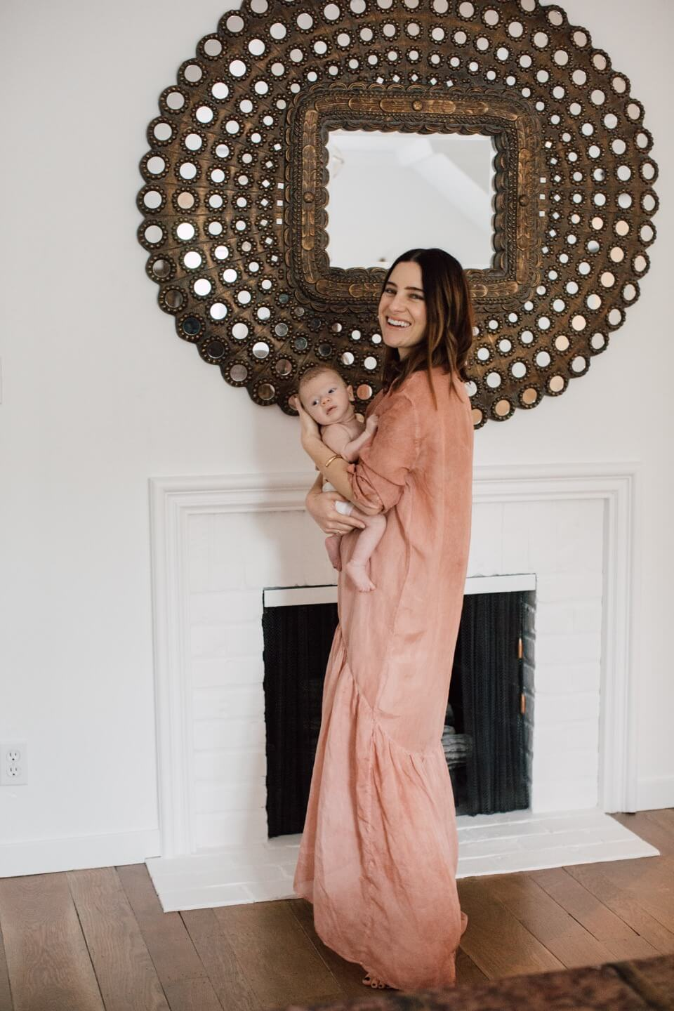 pretty pink valentines day maxi dress