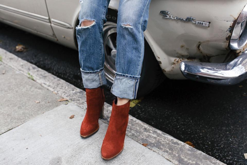 freda salvador brick suede boots