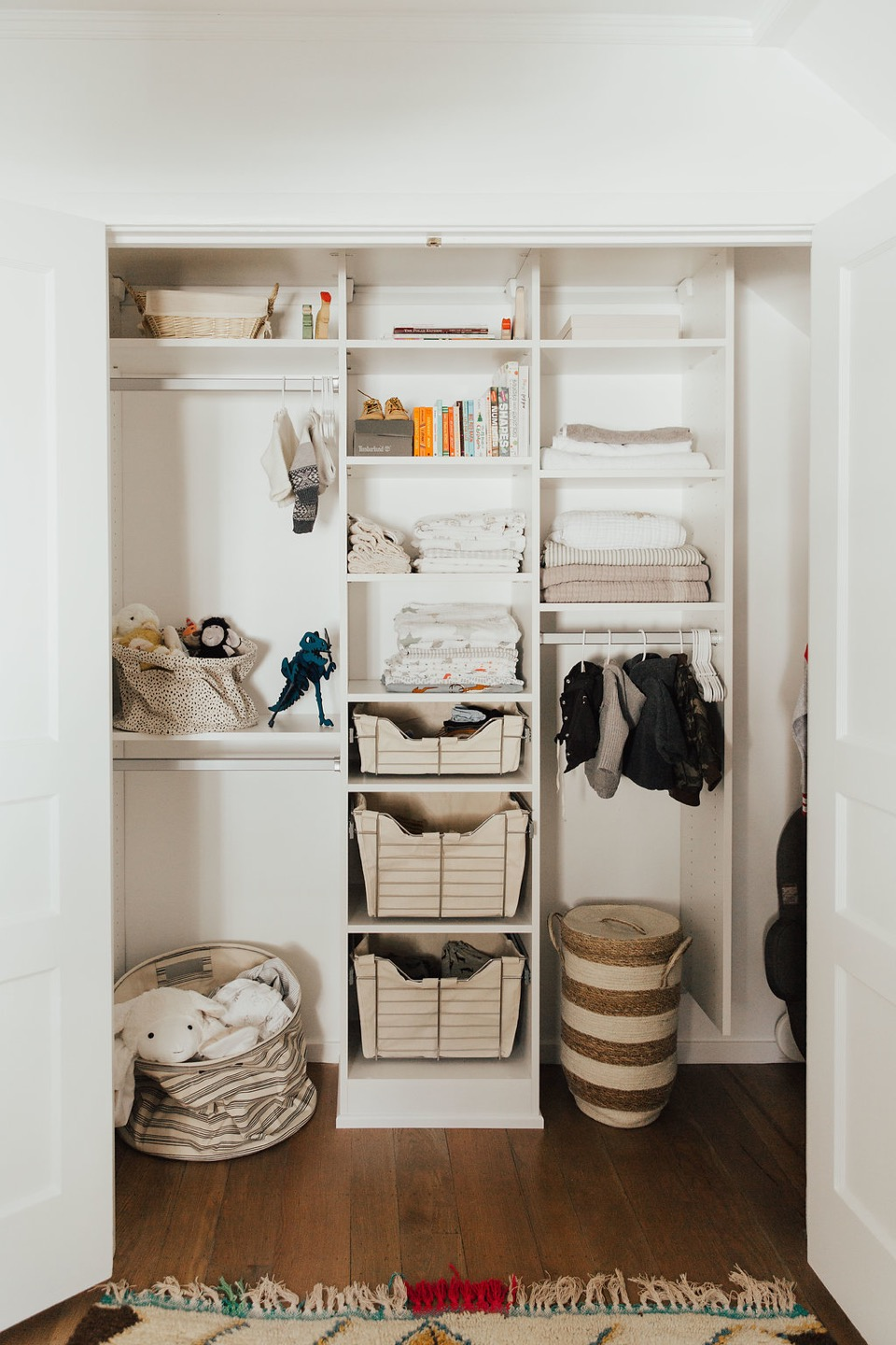 a neutral and minimal baby boy nursery