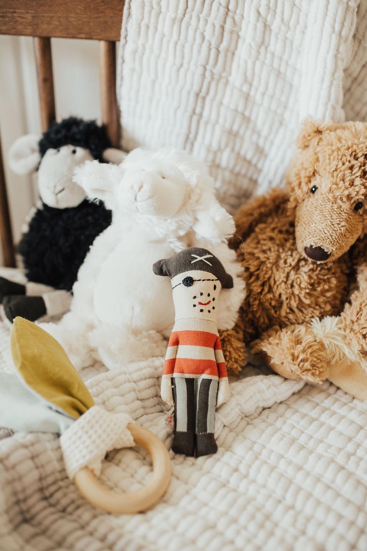 a neutral and minimal baby boy nursery