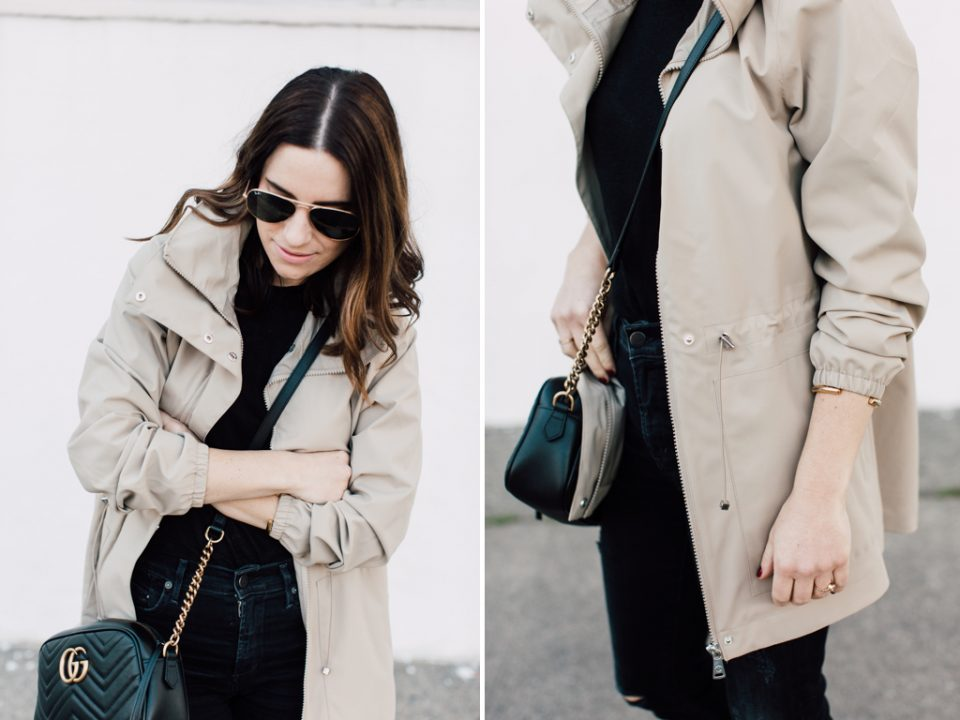 the perfect chic spring raincoat
