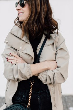 the perfect stylish spring raincoat