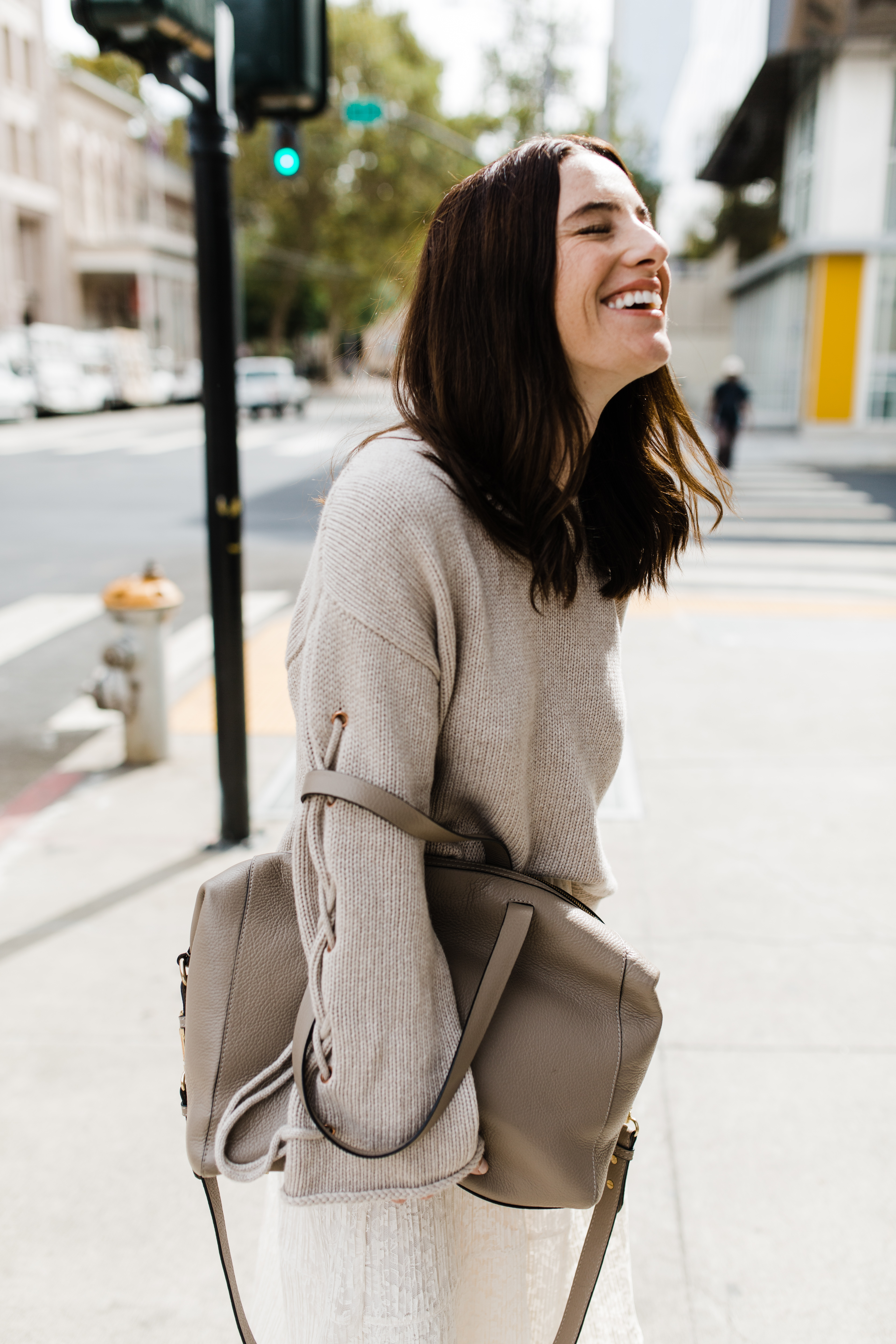 the perfect travel bag from Cuyana's fall line