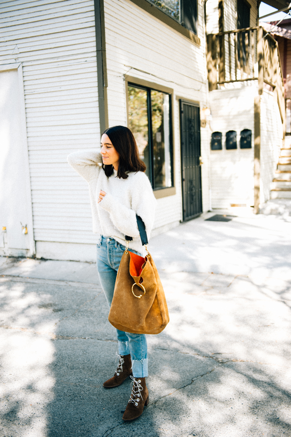 the perfect ivory fall sweater