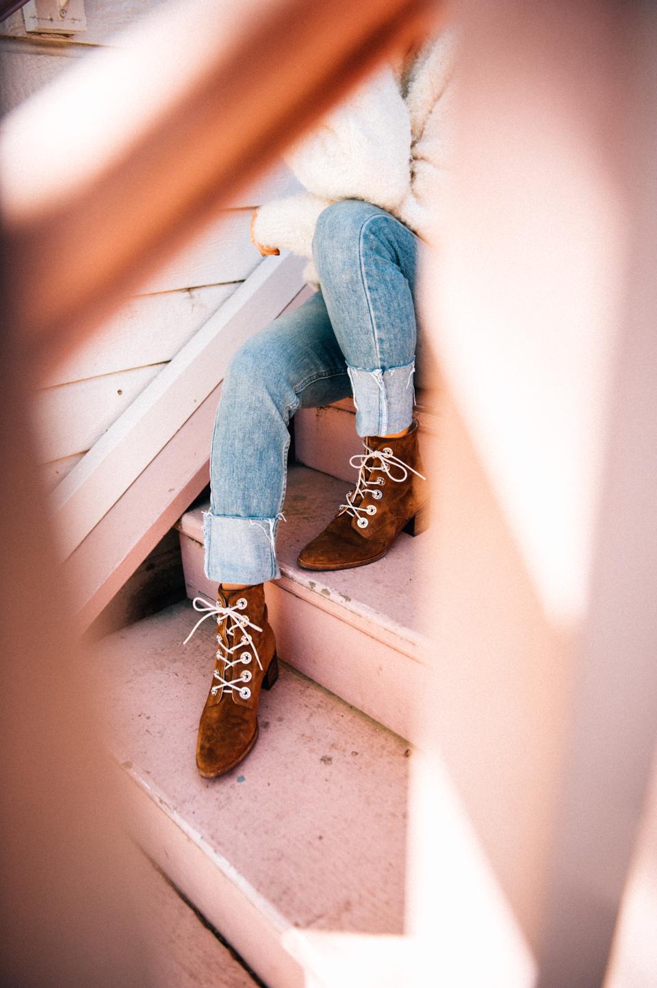 freda salvador lace up suede boots