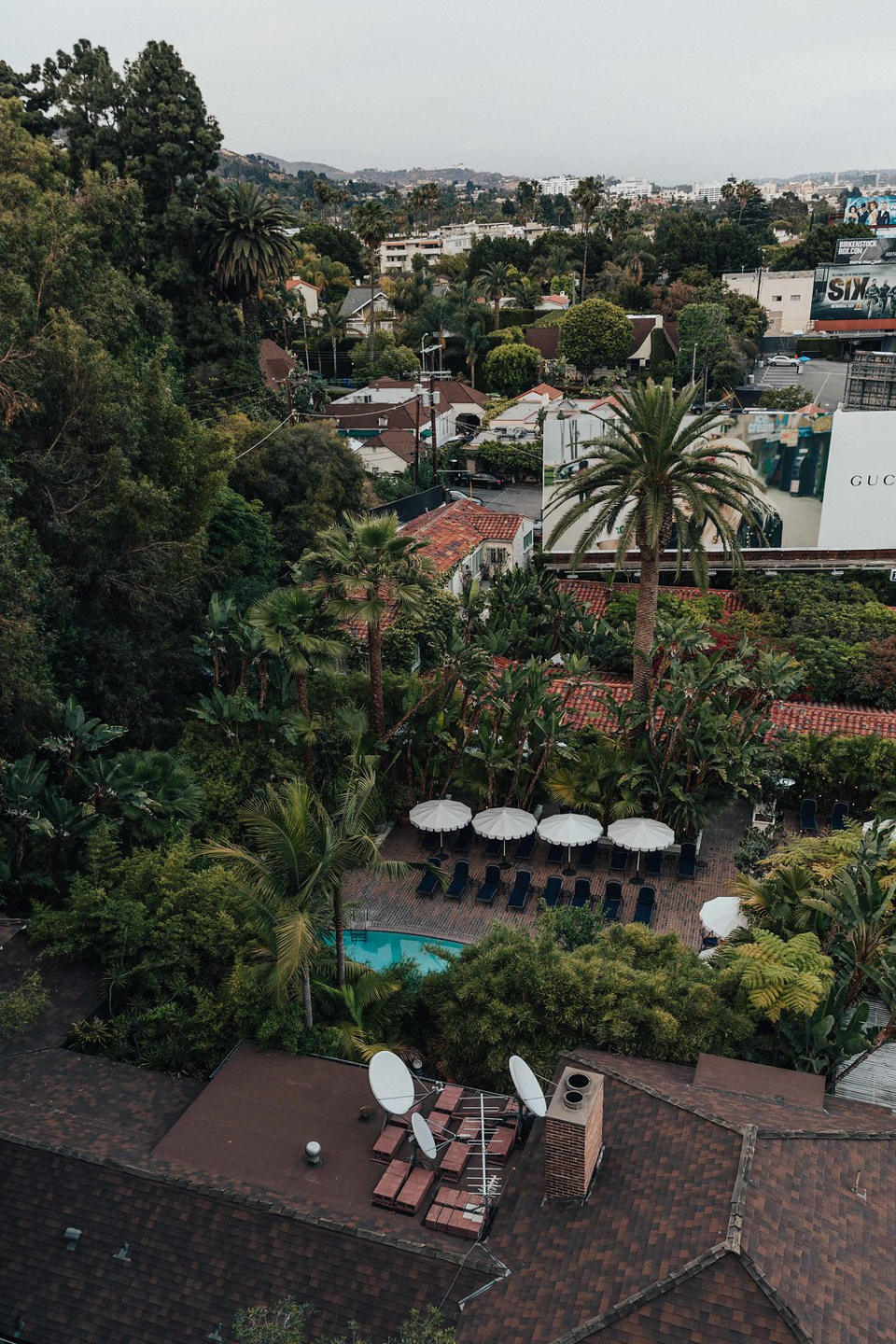 Rooftop views at the Chateau Marmont