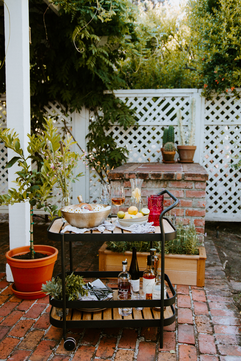Summer Ready | New Backyard Patio Set and Bar Cart