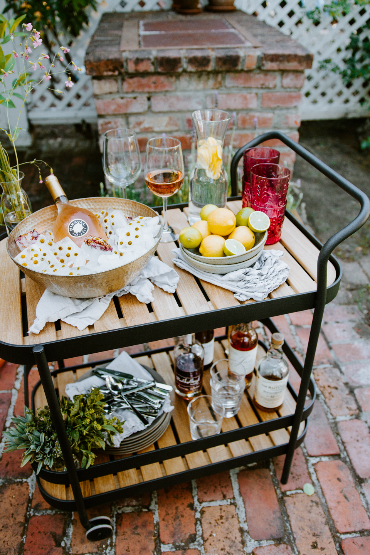 Summer Ready | New Backyard Patio Set and Bar Cart