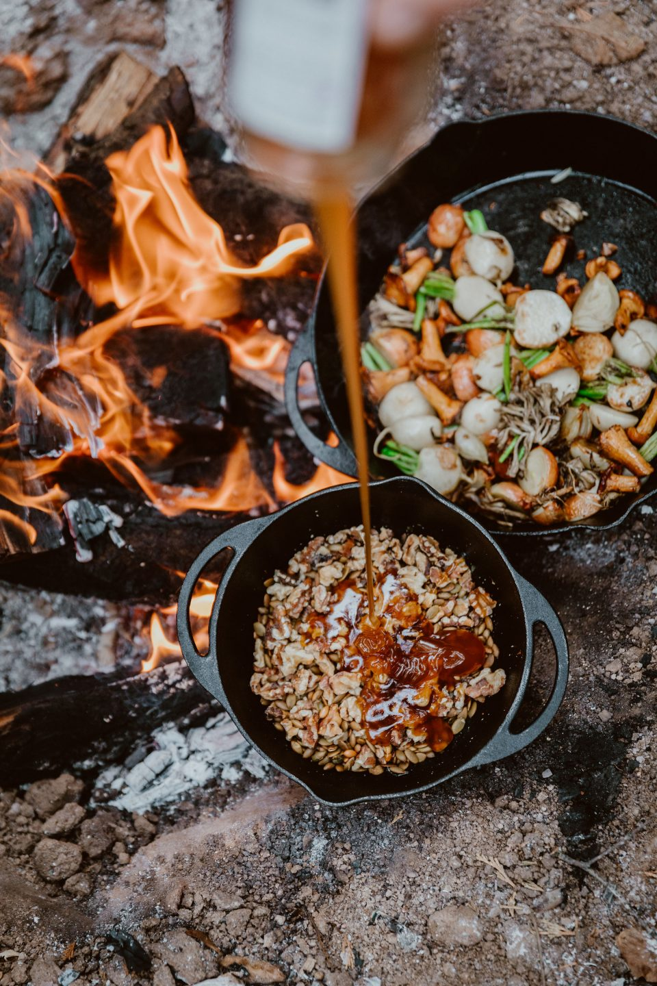 roasted winter squash recipe with nut and seed honey and goat cheese crumbles